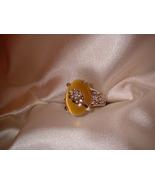 Yellow Flower Ring Size 5.5  Bargain Bin Under $10.00 - $5.99