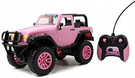GIRLMAZING Big Foot Jeep R/C Vehicle 1:16 Scale Pink With Clamor Deco St... - $32.08