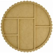 "Scallop Circle Photo Display 12"" diameter wooden cross stitch Kaisercraft - $22.50"