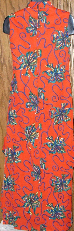 Vintage MOD 70s bold OP ART Maxi Dress Gown