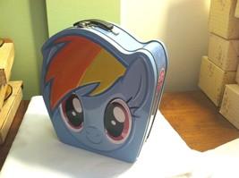 MY LITTLE PONY -- Rainbow Dash --  Head Shape Tin Lunch Box Tote - $7.92