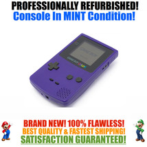 *NEW GLASS SCREEN* Nintendo Game Boy Color GBC Grape Purple System MINT NEW - $69.92