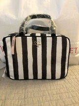 Nwt Victoria's Secret Striped Hanging Make-Up/Train Case/Travel Bag Nylon - $29.69