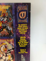 Vintage 1993 CREATOR'S UNIVERSE Uncut PROMO Cards Sheet Kubert Jusko Sears Nguye image 3