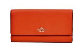 NWT Coach 53754 Carmine Crossgrain Leather Larg... - $119.60