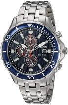 Citizen Mens Watch Chronograph Stainless Steel Eco-Drive CA0560-59L image 1