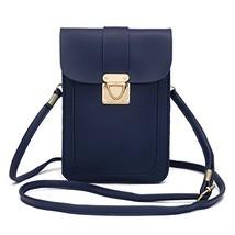 WOZEAH Crossbody Purse And Handbags Mini Cellphone Pouch Wallet Bag blue2 - $14.54