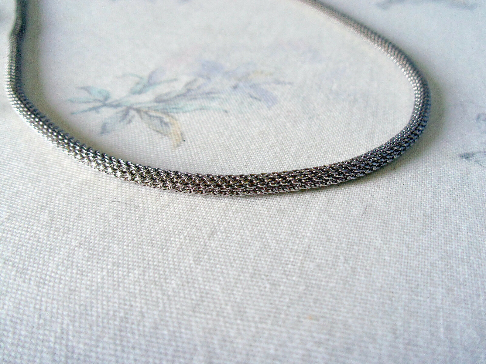 """925 STERLING SILVER NO STONE 3MM  CHAIN  (16 - 17 3/4 """")HALLMARKED IN LONDON"""