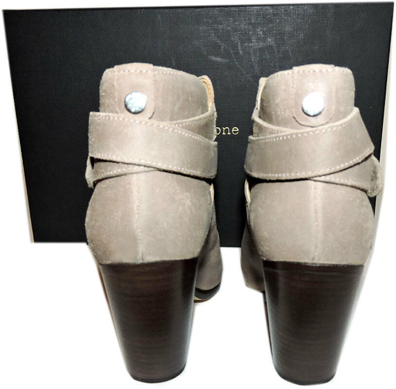 Rag & Bone HARROW Stone Buckle Boots Ankle Booties Taupe Shoes 38.5 - 8 image 6