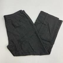 Haggar Dress Pants Mens 40X30 Gray Black Tailored Fit Straight Leg Slash... - $18.95