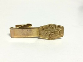 Vintage Texago Chicago Gold Tone Tie Bar Clasp Clip - $15.00