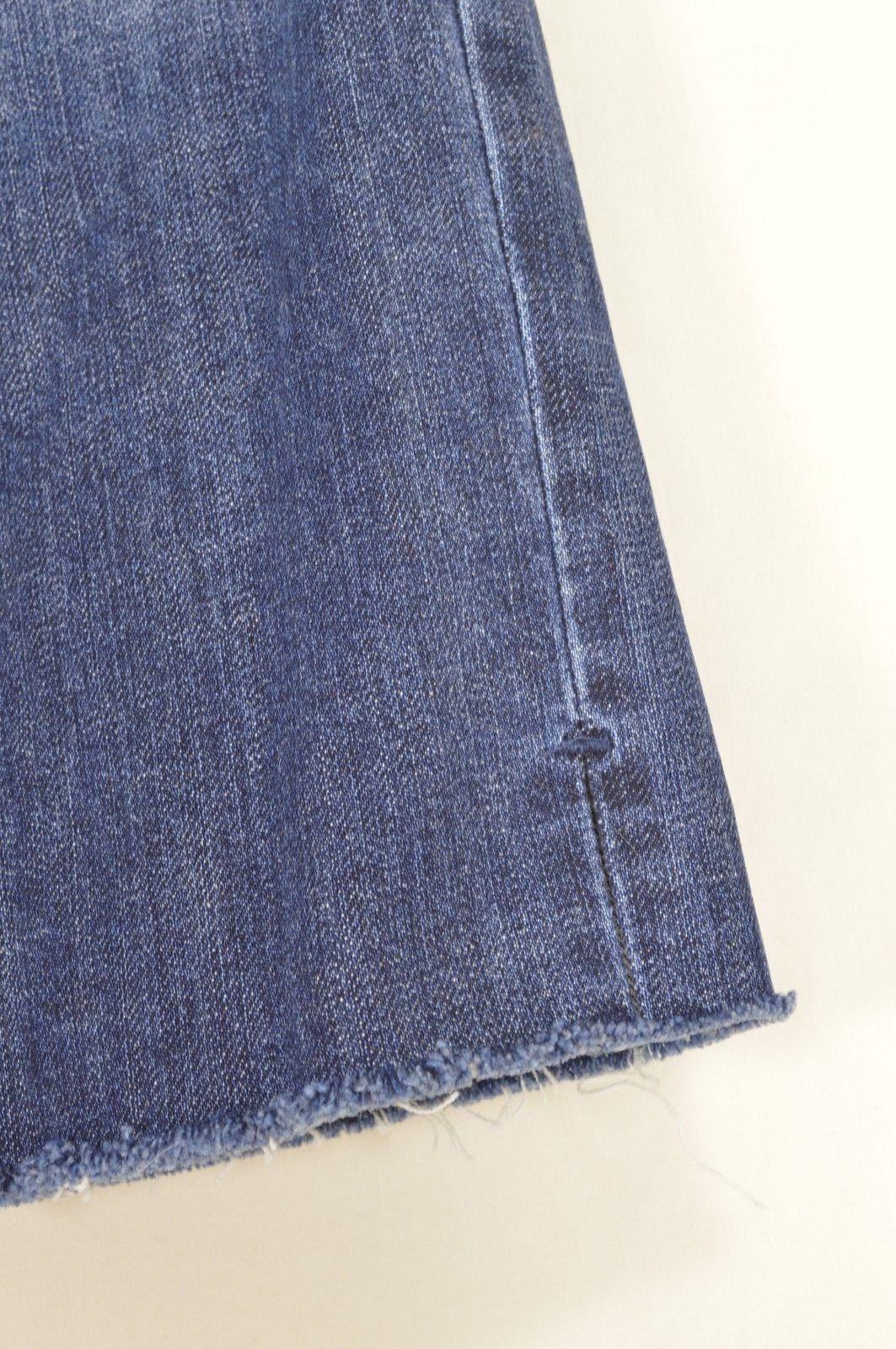 Joe's Jeans 29 Honey Kicker Klum wash roll ups cropped destroyed distressed