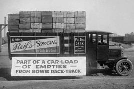 Truck load of empty bottles in boxes from racetrack - Art Print - $19.99+