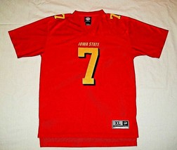 IOWA STATE CYCLONES  #7 RED JERSEY  SIZE YOUTH XL 18/20  MADE BY GENUINE... - $9.00