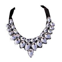 [White Drops] Women Acrylic Choker Necklace False Collar Removable Fake Collar