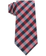 Tommy Hilfiger Men's Classic Ground Plaid Silk Tie (Red) - $54.45