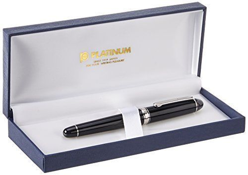 Stationery Fountain Pen PLATINUM #3776 Century Music nib 14k calligraphy MA