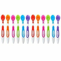 Munchkin 12 Piece Soft-Tip Infant Spoons 12 Count, Assorted Colors  - $12.31