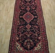 Tribal Wide Gallery Runner Persian Genuine Handmade 4x10 Black Sarouk Wool Rug image 9