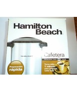 Hamilton Beach 45 Cup Coffee Urn and Hot Beverage Dispenser, Silver 4051... - $31.67