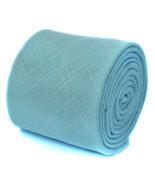 Frederick Thomas duck egg blue textured linen tie FT1964 - $16.95