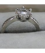 Silver Ring Crystal Setting Marked S925 - $12.00