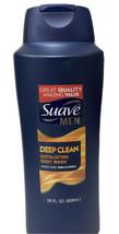 Suave Men Deep Clean Exfoliating Body Wash Large Size 28 oz. Sandalwood ... - $27.72