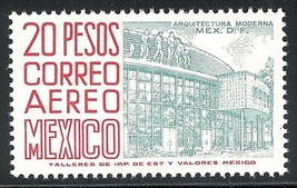1975 Modern Architecture Mexico Airmail Postage Stamp Catalog Number C480 MNH