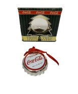 VTG Coca-Cola Trim A Tree Collection Polar Bear Bottle Cap Ornament 1990 - $7.92