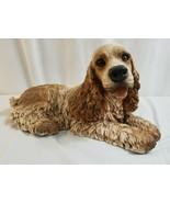 "1986 HOMCO Large 8"" x 14"" Resin Cocker Spaniel Dog Statue Figurine - $71.95"
