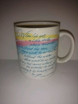 Hallmark 1987 When Life Gets Little Rocky Poem Coffee Mug Cup 8 oz Linda... - $22.76