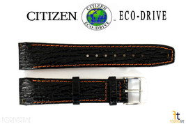 Citizen Eco-Drive E812M-S033870 21mm Black Leather Watch Band E820M-S061806 - $84.95