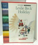 New Sealed Studio Bernina 541 LESLIE BECK HOLIDAY Artista Embroidery Des... - $54.40