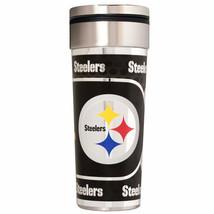Pittsburgh Steelers 22 oz Stainless Steel Travel Tumbler Metallic Graphi... - $23.75