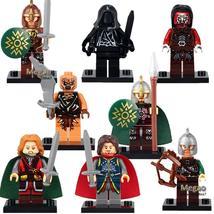 8pcs/set Lord of the Rings Aragorn Theoden Mordor Orc Uruk-Hai Minifigures Lego - $12.50