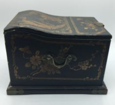 Vintage Wooden Chinese Asian Jewelry Box Chest w/ Mirror Apothecary image 10