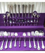 ONEIDA COMMUNITY SATINIQUE STAINLESS 41 Pc FLATWARE SET FOR 8 w/Serving Pcs. - $135.00