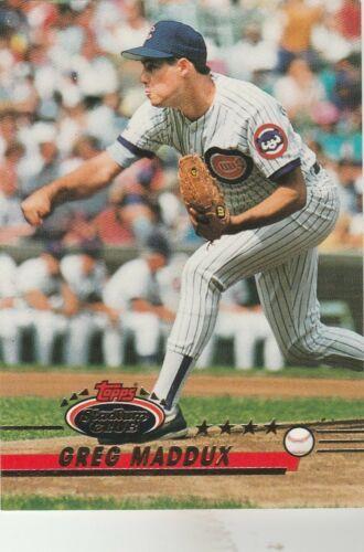 1993 Topps Stadium Club Greg Maddux Baseball Card (NM)