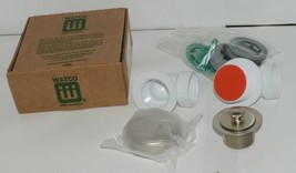 Watco 901 PP PVC BN Brushed Nickel Innovator Push Pull Half Kit image 1