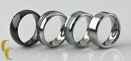 Tungsten & Titanium Band/ Ring, Lot of 4 Sizes 7 3/4 to 9 - $48.61