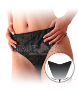 24 Pcs Disposable Ladies Black Panties Hi-cut Brief - #DP109x 4 - $13.99