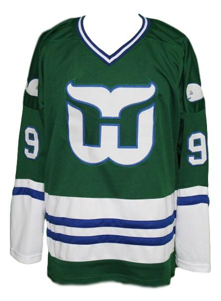 Any Name Number Whalers Retro Hockey Jersey Green Gordie Howe #9 Any Size