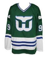 Custom Name # Whalers Retro Hockey Jersey New Green Gordie Howe #9 Any Size - $54.99+