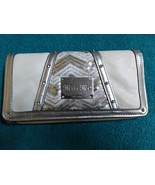 Miss Me tri fold wallet pearl &.silver with rhinestone studs & sequins - $20.00