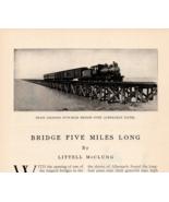 Train Crossing 5 Mile Bridge Albemamarlk Sound NC Norfolk & Southern RR ... - $15.99