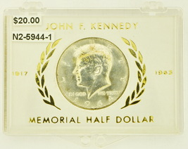 1964-D Silver Kennedy Half Dollar RATING: (UNC) Uncirculated - $20.00