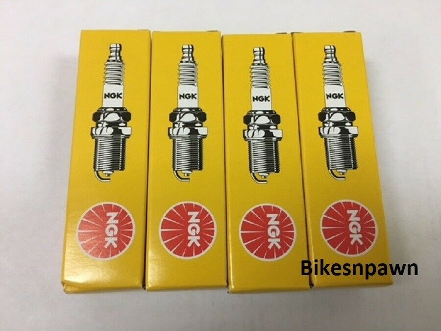 4 (Four) Pack New NGK Spark Plugs 2-BPR5ES-11 #7634 Harley Big Twin 84-99 Evo