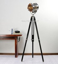 Nauticalmart Classical Designer Nickel Finish Silver Metal Tripod Floor Lamp - $167.31