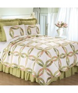 Annie's Wedding Ring Traditional King Size 3 Pc Quilt Set Quilt + 2 Sham... - $210.00