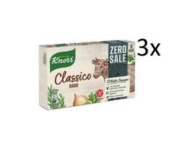 3x Knorr Dado Classico Zero SALE Soup Cube Zero Salt broth 8 Cubes 72g - $18.30
